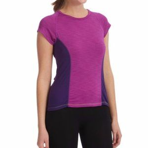 NWT Moxie Cycling Color Block Tee Solid Iris Large